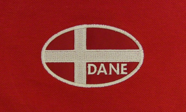 Danish Flag Polo Shirt