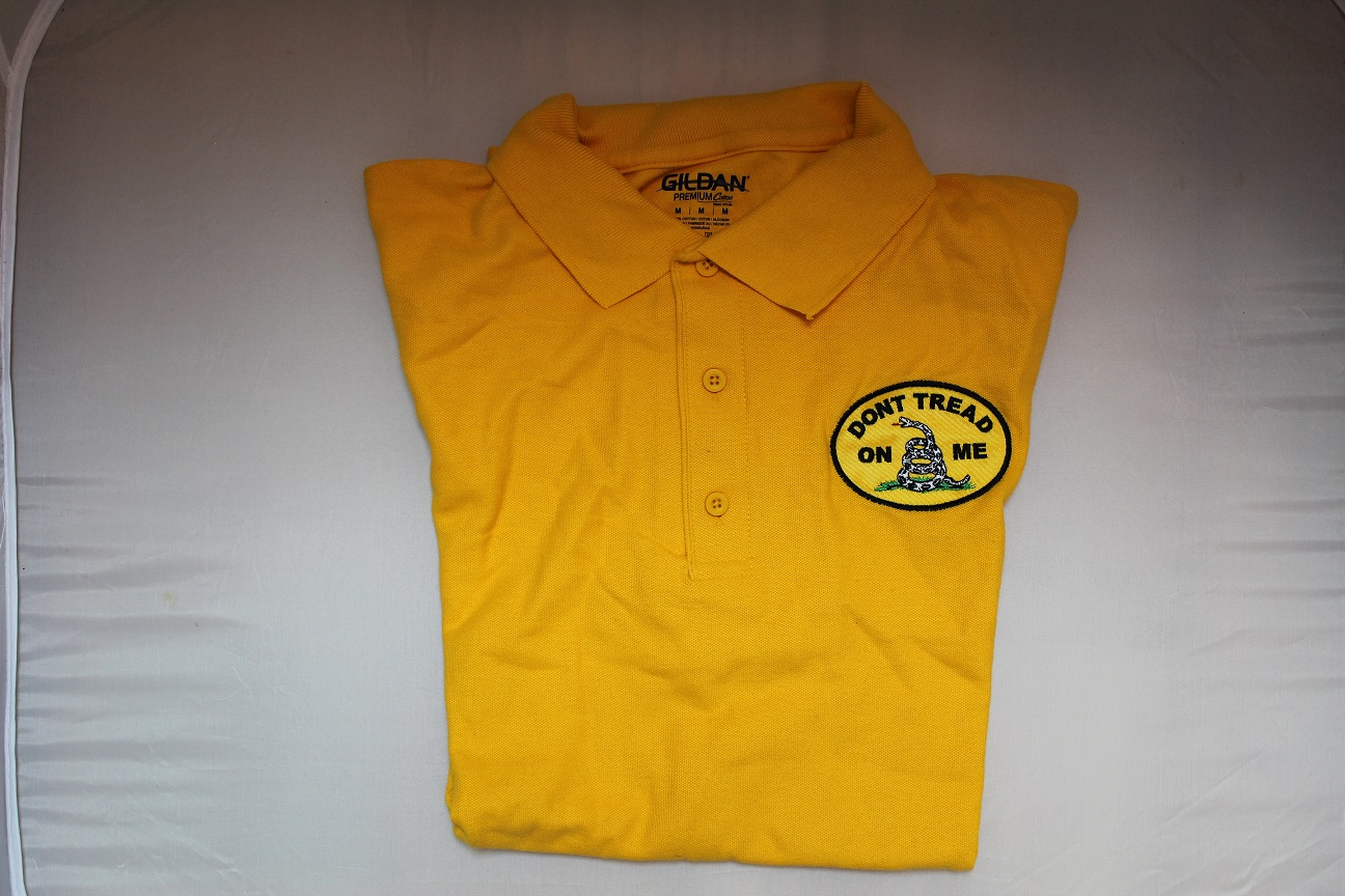 Gadsden Oval Polo Shirt - Gold - XL