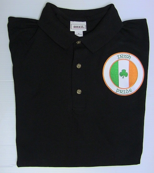 Irish Pride/Tri-Color Polo - L