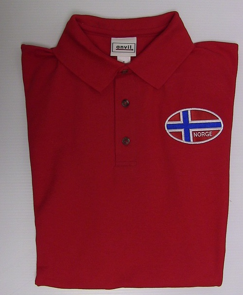 Norwegian Flag Polo Shirt