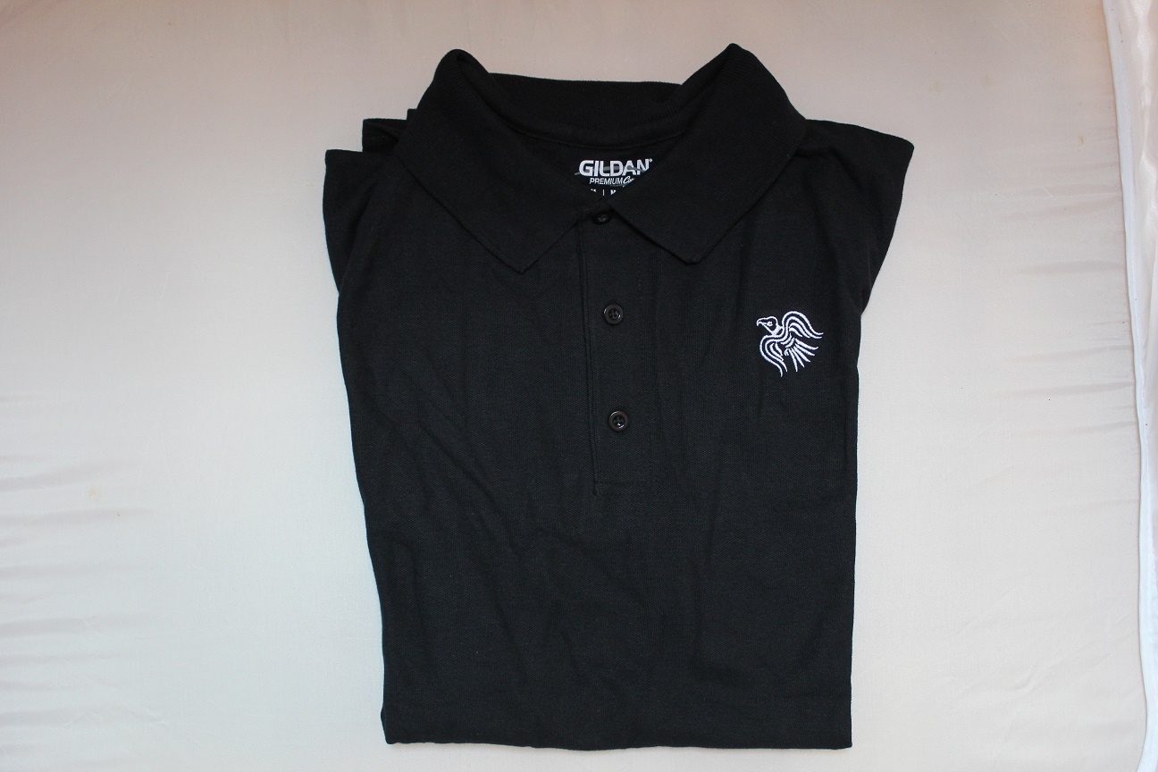Raven Branded Polo - Black - New