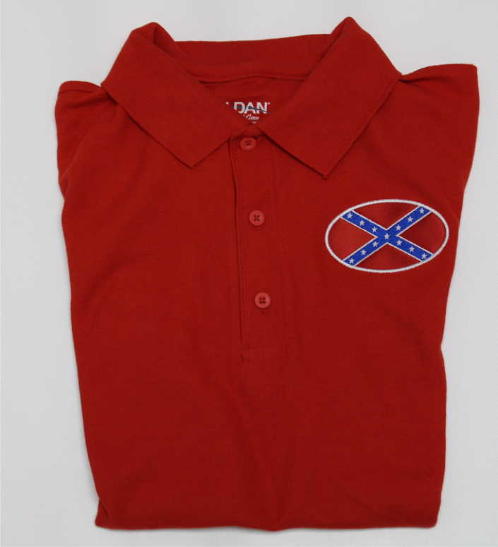 Confederate Flag Polo Shirt S, M