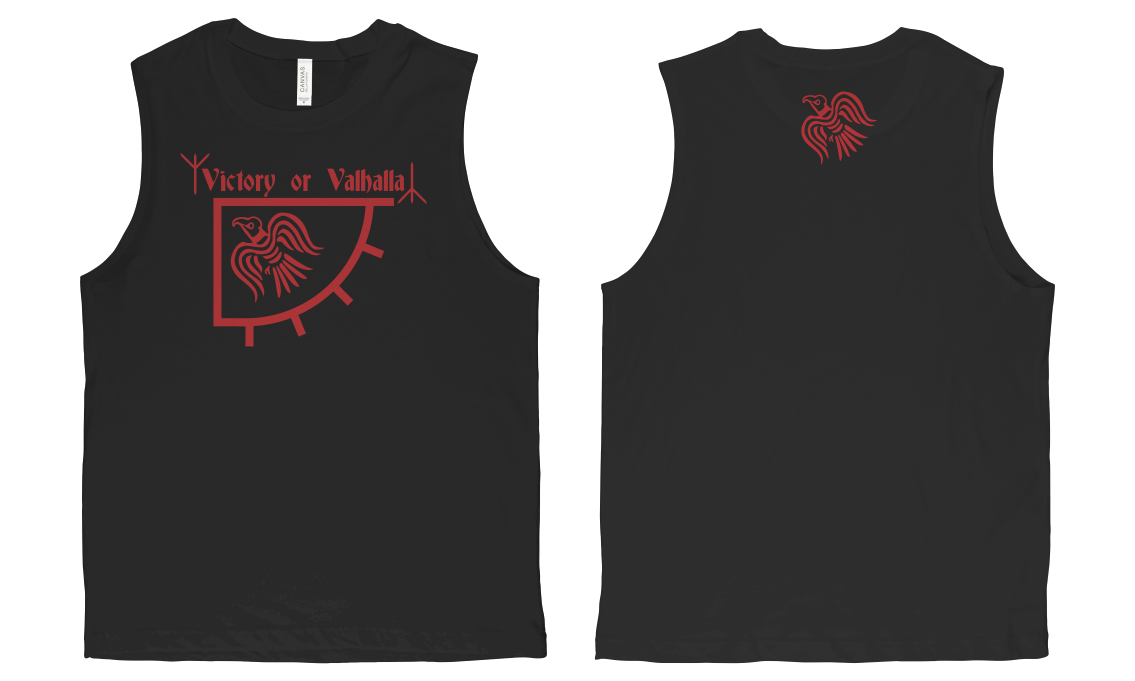 Sleeveless Victory Or Valhalla T-shirt